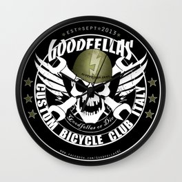 Goodfellas Custom Bicycle Brigade - SUPPORTERS ARMY Wall Clock