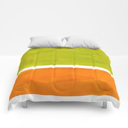 Retro Lime Green Minimalist Abstract Color Block Rothko Midcentury Modern Art Comforters