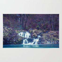 Teal Blue Waterfall Cove Rug