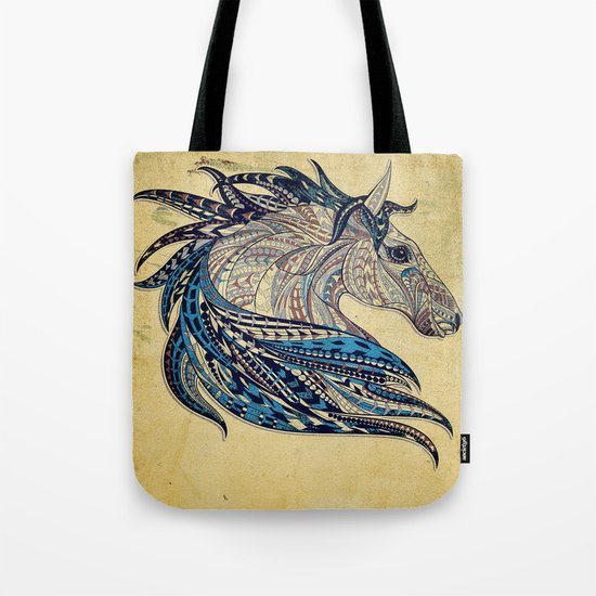 Grunge Ethnic Horse Tote Bag
