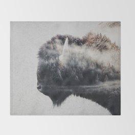 Wild West Bison Throw Blanket