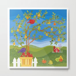 Summer Fruit Farm Metal Print