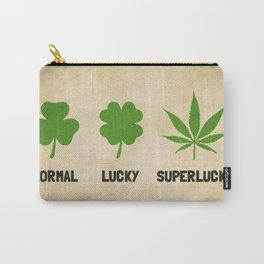 Cannabis / Hemp / Shamrock - Super Lucky mode Carry-All Pouch