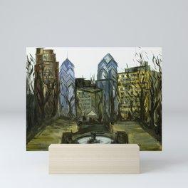 Rittenhouse Square in the Winter Mini Art Print