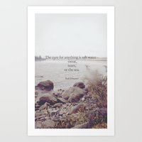 salt water Art Prints featuring Salt Water by Amy Lloyd