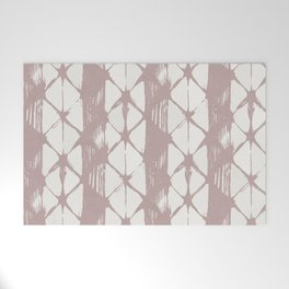 Simply Braided Chevron Clay Pink on Lunar Gray Welcome Mat