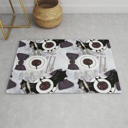 Halloween Table Setting Pattern Rug