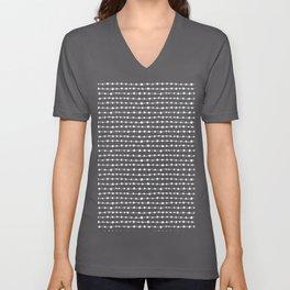 Pattern Project #18 / Dotty Lines Unisex V-Neck