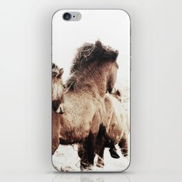 WILD AND FREE 2 - HORSES OF ICELAND iPhone Skin