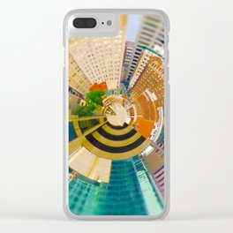 Downtown Kansas City Tiny Planet Clear iPhone Case
