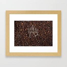 Coffee Queen Framed Art Print