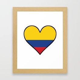 Colombian Flag Heart Framed Art Print
