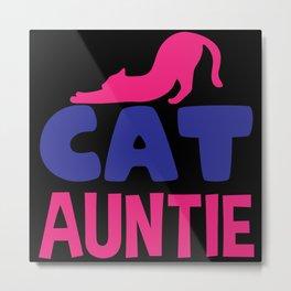 Cat cat auntie Metal Print