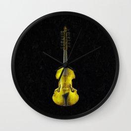 Gold Viola Wall Clock