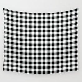 Modern black white picnic 80s print pattern Wall Tapestry
