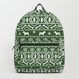 Westie fair isle west highland terrier christmas holiday gifts dog pattern green Backpack
