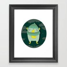 Hug the moon Framed Art Print
