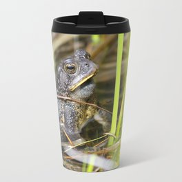Toad in the pond Travel Mug