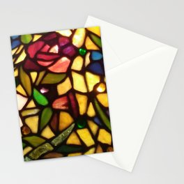 Stained Glass Flowers Stationery Cards