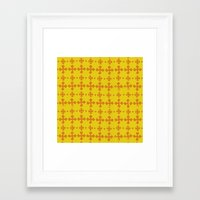 yellow pattern Framed Art Prints featuring yellow pattern by JesseRayus