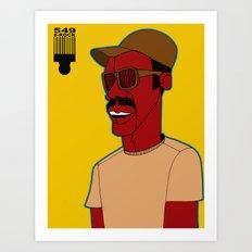 1001 Black Men--#549 Art Print