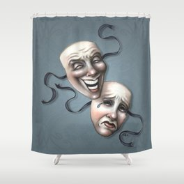 Comedy Tragedy Theater Masks Shower Curtain