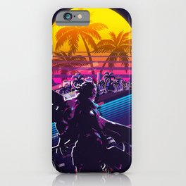 Senna league of legends game 80s palm vintage iPhone Case