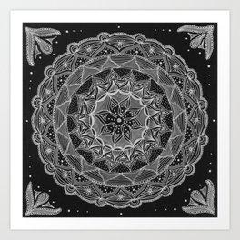 Zendala - Zentangle®-Inspired Art - ZIA 50 Art Print