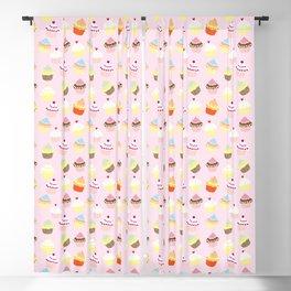Cupcake Pattern Blackout Curtain