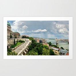Breathtaking Buda Views. Art Print
