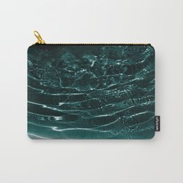Dark Night Teal Ocean Dream #1 #water #decor #art #society6 Carry-All Pouch