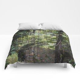 Hidden Jungle River Comforters