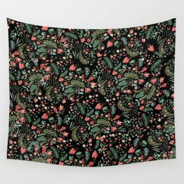 Floral Patern Wall Tapestry