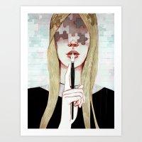 Don't say a word Art Print