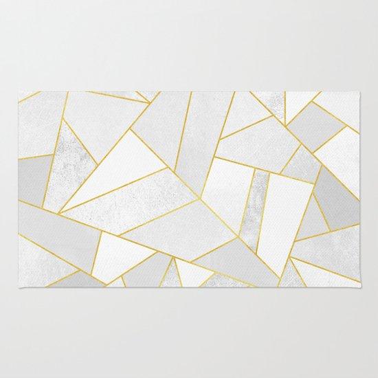 White Stone Rug