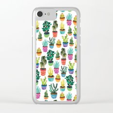 Cacti by Veronique de Jong Clear iPhone Case