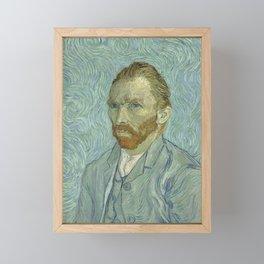 SELF PORTRAIT - VINCENT VAN GOGH Framed Mini Art Print