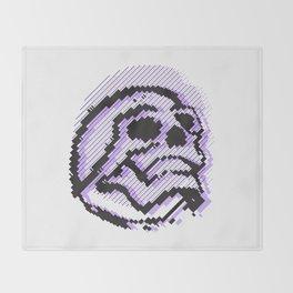 skull line Throw Blanket