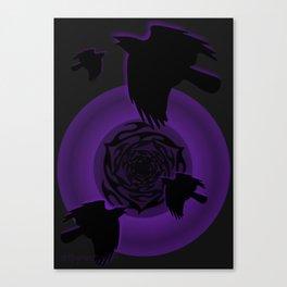 Ravens & Rose Canvas Print
