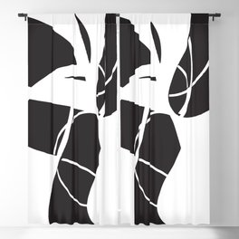 abstract black and white no.2 Blackout Curtain