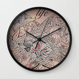 Wings of life Wall Clock