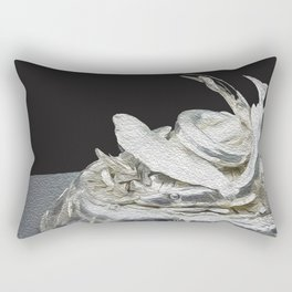 Silver black abstract art Rectangular Pillow