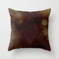 Bokeh Triangle Throw Pillow