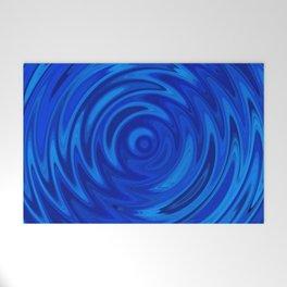 Water Moon Cobalt Swirl Welcome Mat