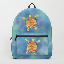 Tropical sea turtle Backpack