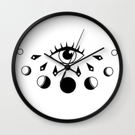 Eye Moon Phase Wall Clock