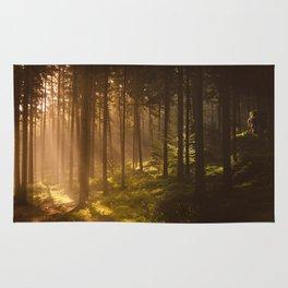 Morning forest Rug