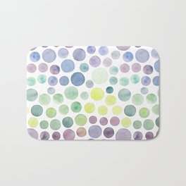 Dots purple and green Bath Mat