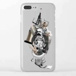 EAT, SLEEP AND DIE (Totem of the Human) Clear iPhone Case