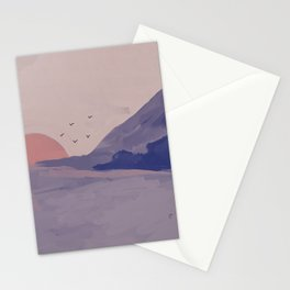 A Summer Sunset In Blue Stationery Cards